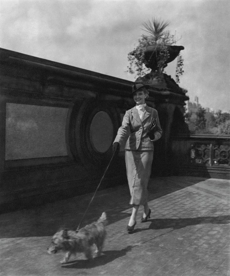A Model Walking A Dog Photograph by Remie Lohse