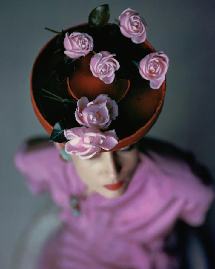 A Model Wearing A Bonwit Teller Hat Photograph by John Rawlings