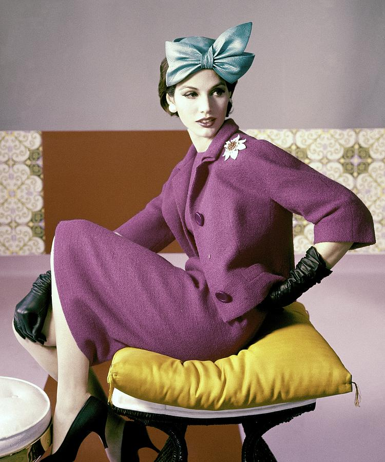 A Model Wearing A Dress Suit Photograph by Horst P. Horst