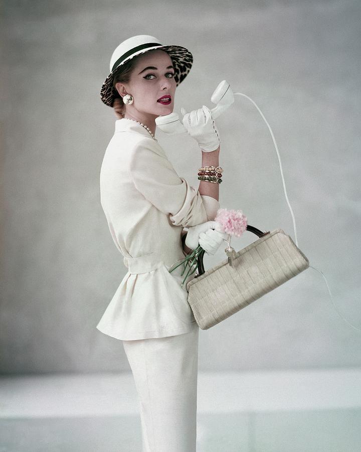 A Model Wearing A Handmacher Suit Photograph by Francesco Scavullo