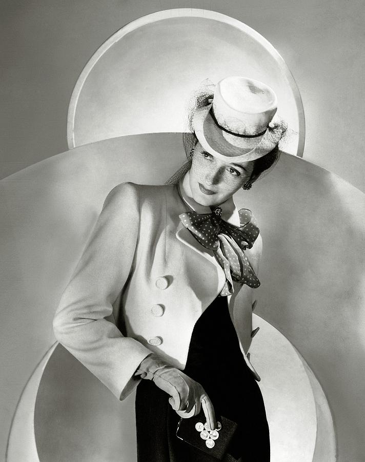A Model Wearing A Jacket And Hat Photograph by Horst P. Horst