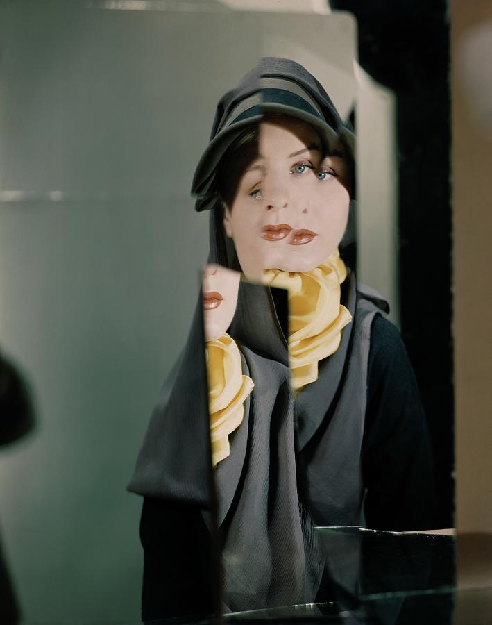 A Model Wearing A John Frederic Hat Photograph by Erwin Blumenfeld