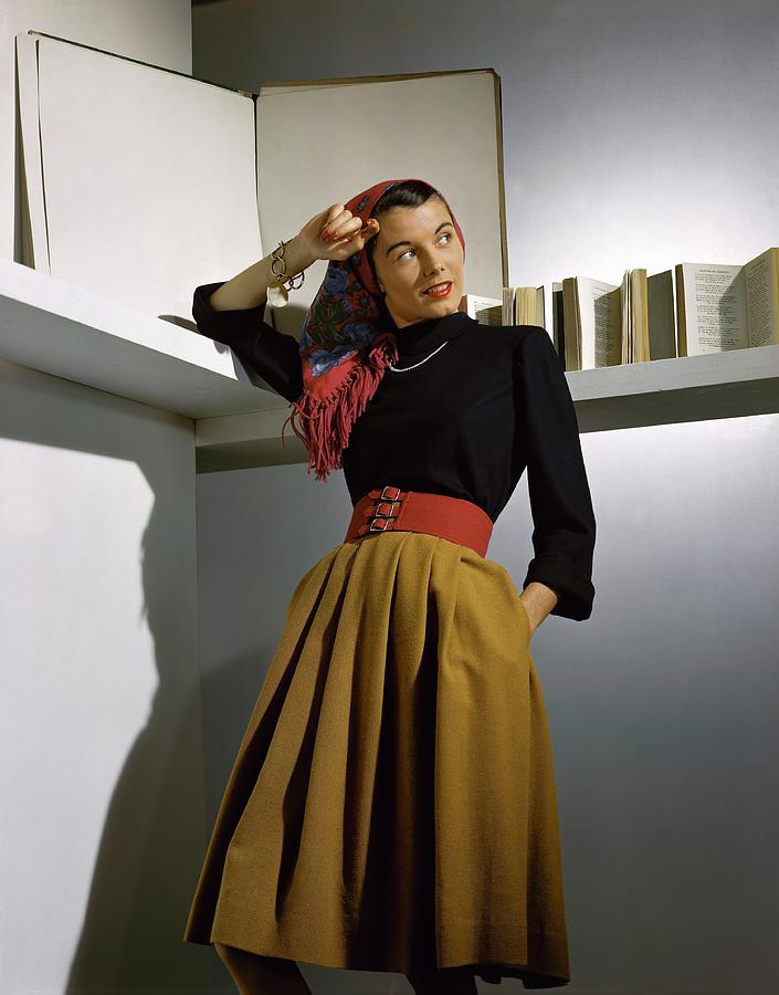 A Model Wearing A Sweater Photograph by Horst P. Horst