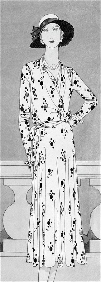 Accessories Digital Art - A Model Wearing A Vionnet Dress by Douglas Pollard