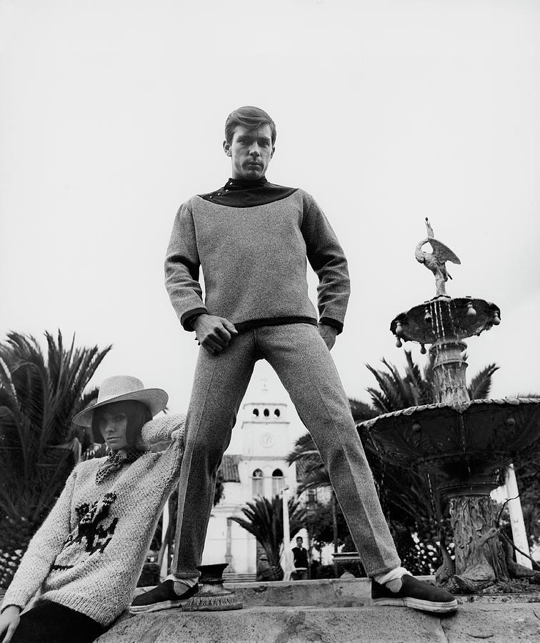 A Model Wearing A Woolen Sweater Photograph by Leonard Nones