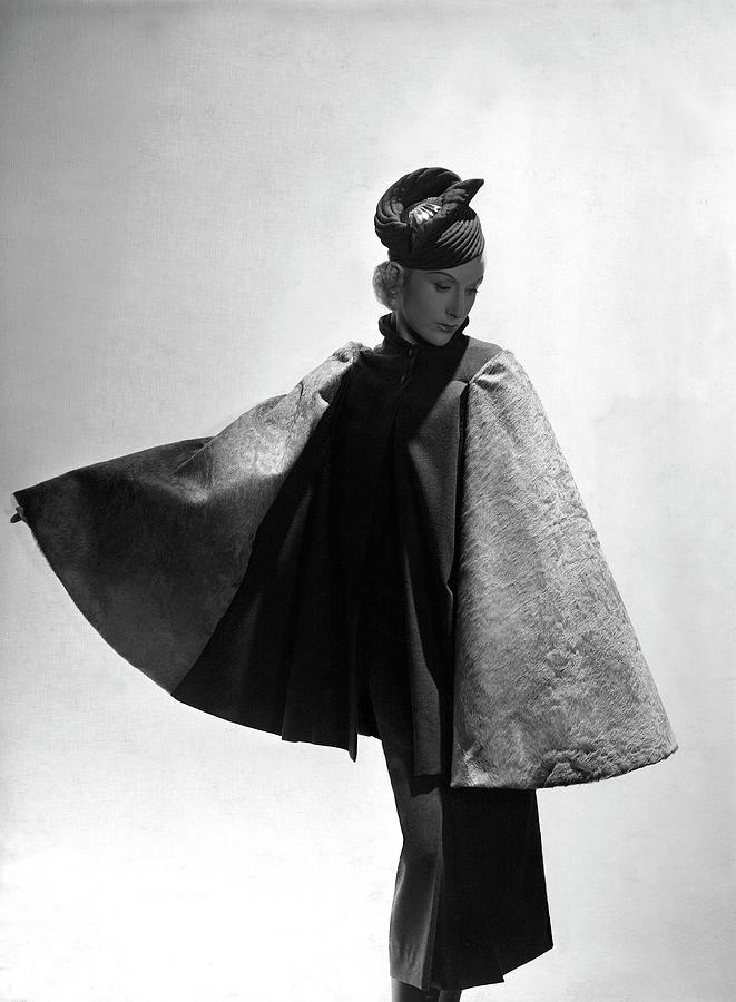 A Model Wearing Alix Photograph by Horst P. Horst