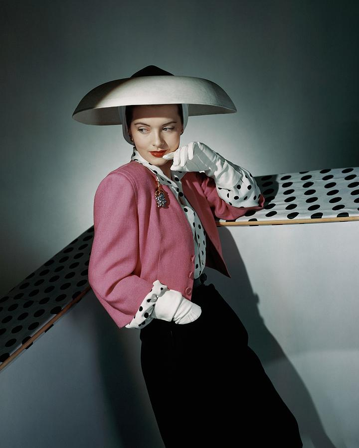 A Model Wearing Arnold Constable And Carolyn Photograph by Horst P. Horst
