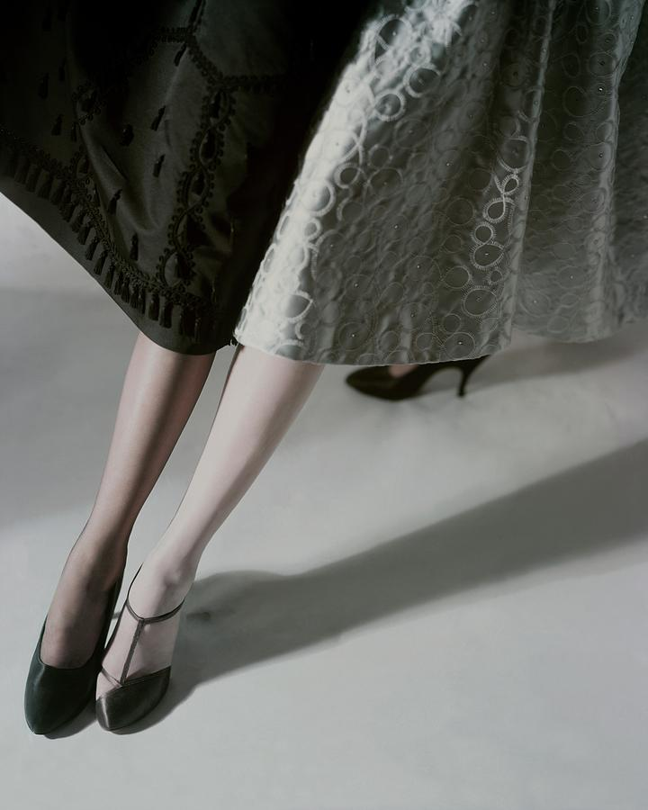 A Model Wearing Artcraft Stockings Photograph by Horst P. Horst