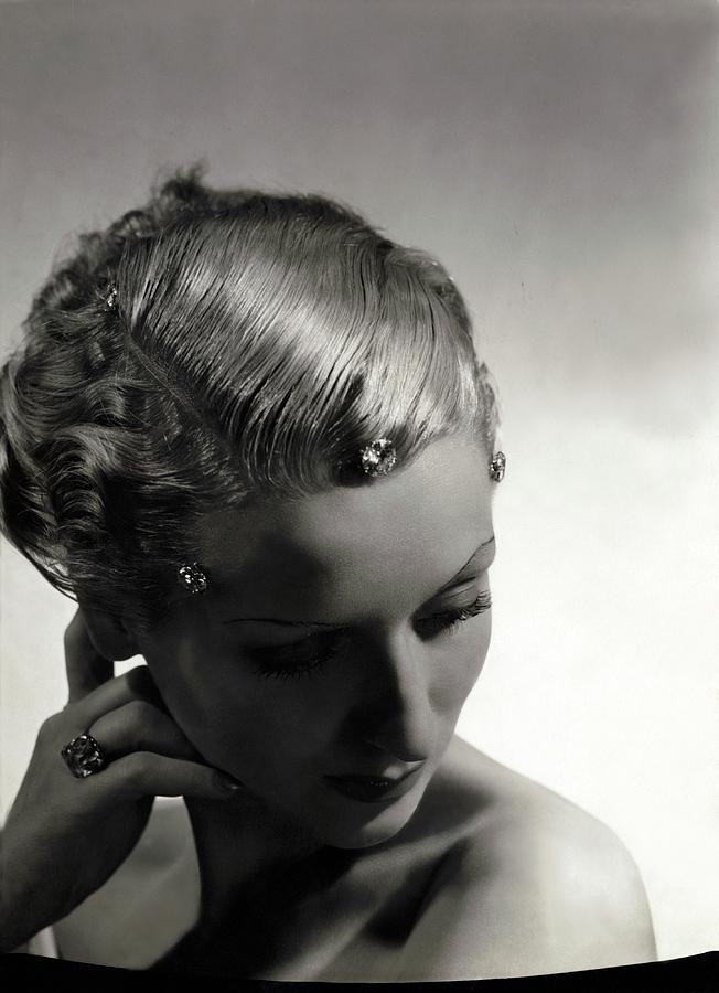 A Model Wearing Cartier Diamonds Photograph by Horst P. Horst