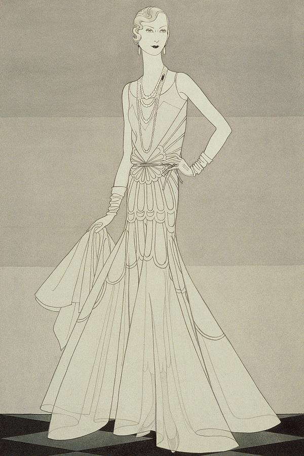 A Model Wearing Chanel Digital Art by Douglas Pollard