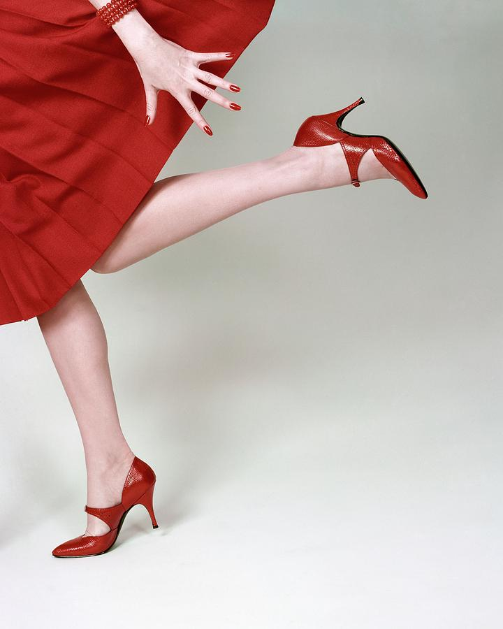 A Model Wearing Fleming-joffe Shoes Photograph by Richard Rutledge