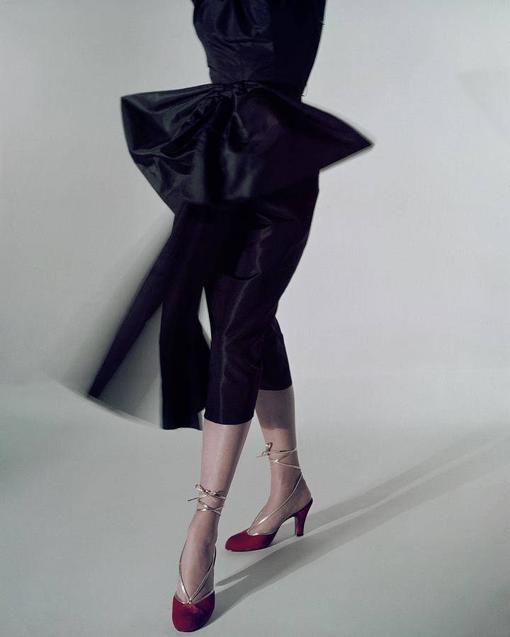 Accessories Photograph - A Model Wearing Red Shoes by Serge Balkin