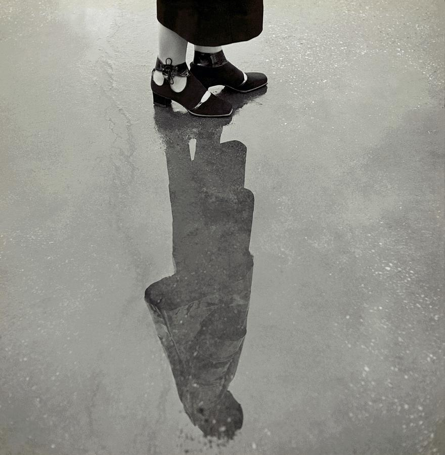 A Models Feet Wearing R. R. Bunting Shoes Photograph by Roger Schall