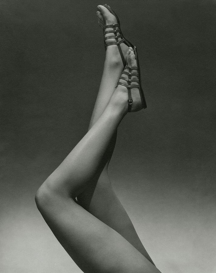 A Models Legs Wearing Sandals Photograph by Edward Steichen