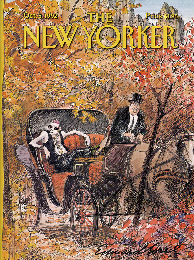 New Yorker October 5th, 1992 Painting by Edward Sorel