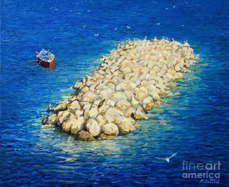 Seagull Painting - A Moment Of Eternity by Kiril Stanchev