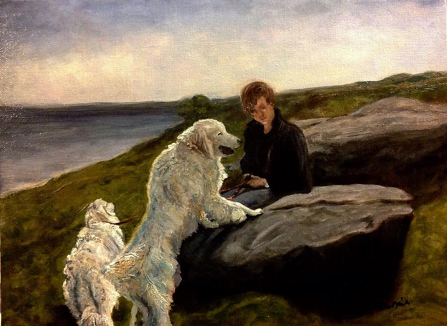 A Moment of Repose with the Magnificent Dogs by J Reynolds Dail