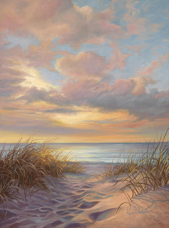Beach Painting - A Moment Of Tranquility by Lucie Bilodeau