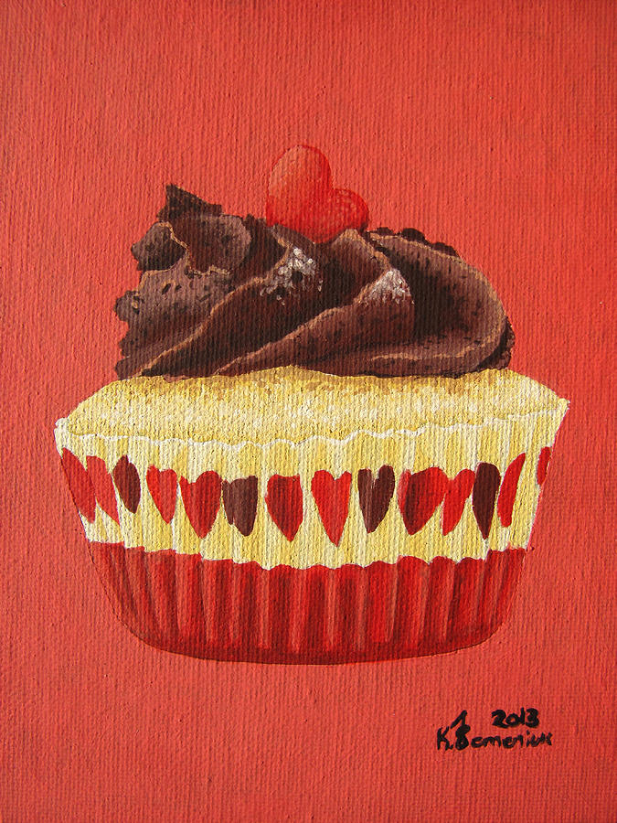 Cupcake Painting - A Moment On The Lips by Kayleigh Semeniuk