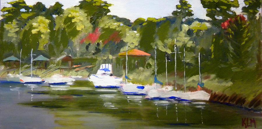 Plein Air Painting - A Morning In May by Karen Macek