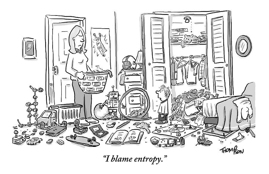 A Mother Stands Angrily In The Doorway Drawing by Mark Thompson