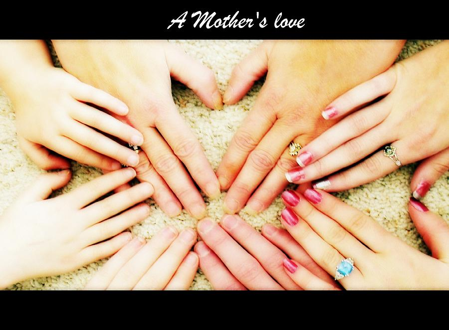 Hands Photograph - A Mothers Love by Michelle Frizzell-Thompson