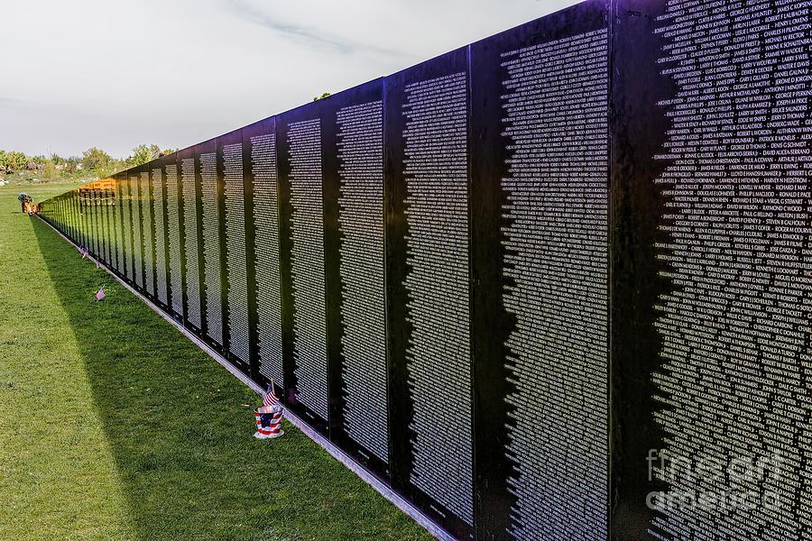 Vietnam Wall Photograph - A Moving Wall by Jon Burch Photography