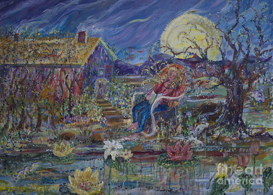 Impressionistic Painting - A Nap By The Lily Pond by Avonelle Kelsey