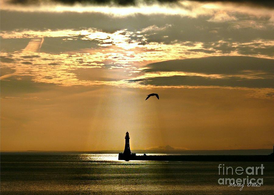 Roker Pier Sunderland by Morag Bates