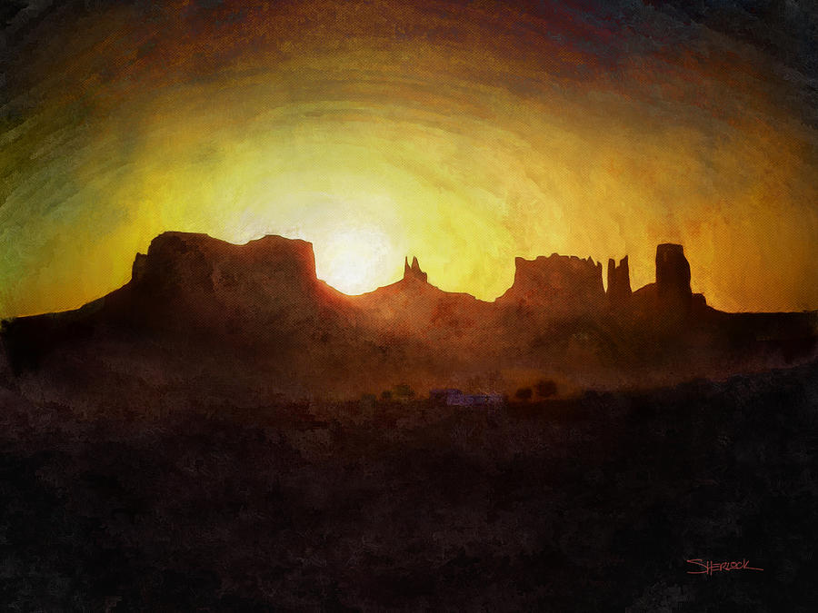 A New Day - Monument Valley by Alan Sherlock