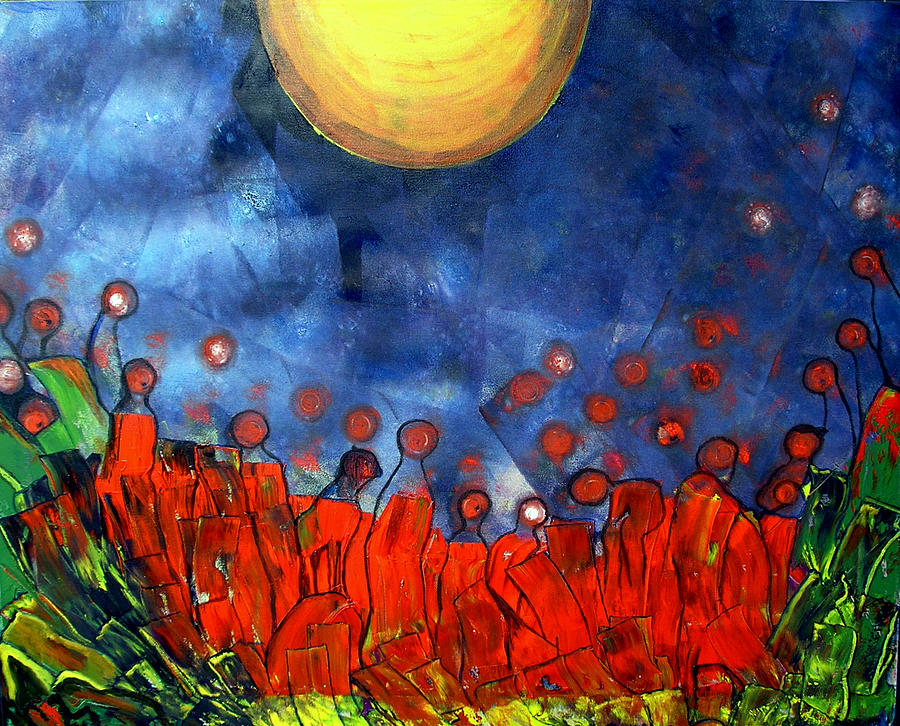 Sun Painting - A New Day by Pilar  Martinez-Byrne