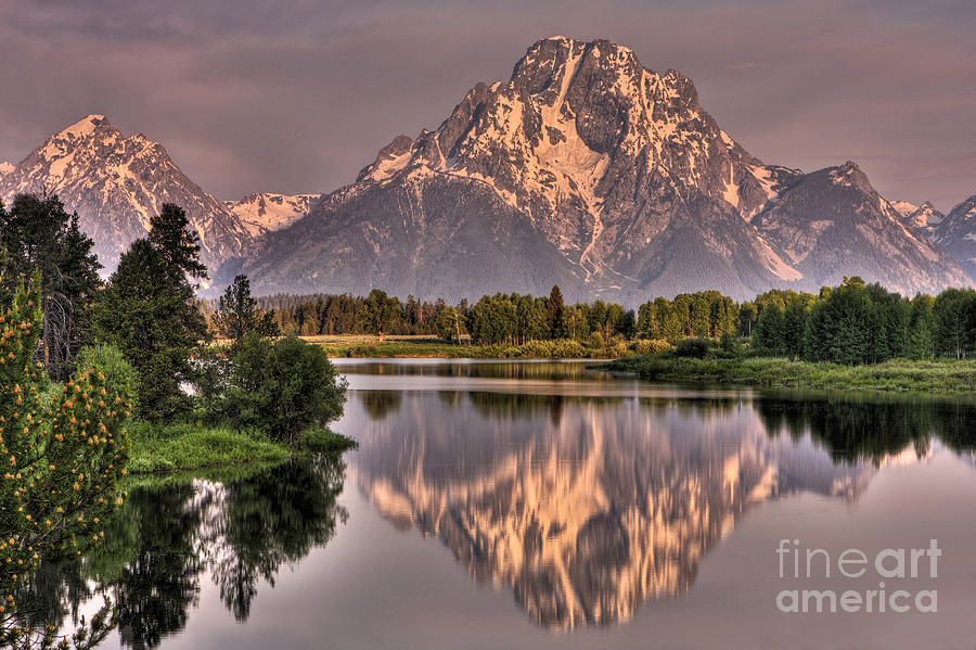 Mount Moran Photograph - A New Day by Wojciech Dabrowski