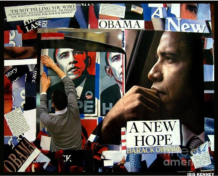 Isis Kenney Mixed Media - Barack Obama A New Hope by Isis Kenney