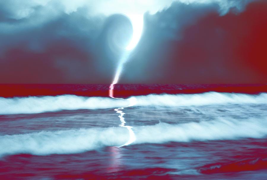 Phenomenon Above The Sea Continues Mixed Media