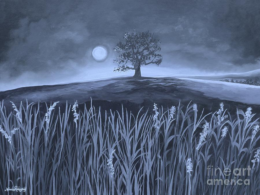 Plains Painting - A Night At The Plains by Nereida Rodriguez