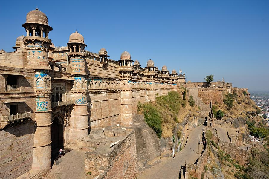 A Normal Scene Of The Maan Mandir Palace In Gwalior Fort,... by ...