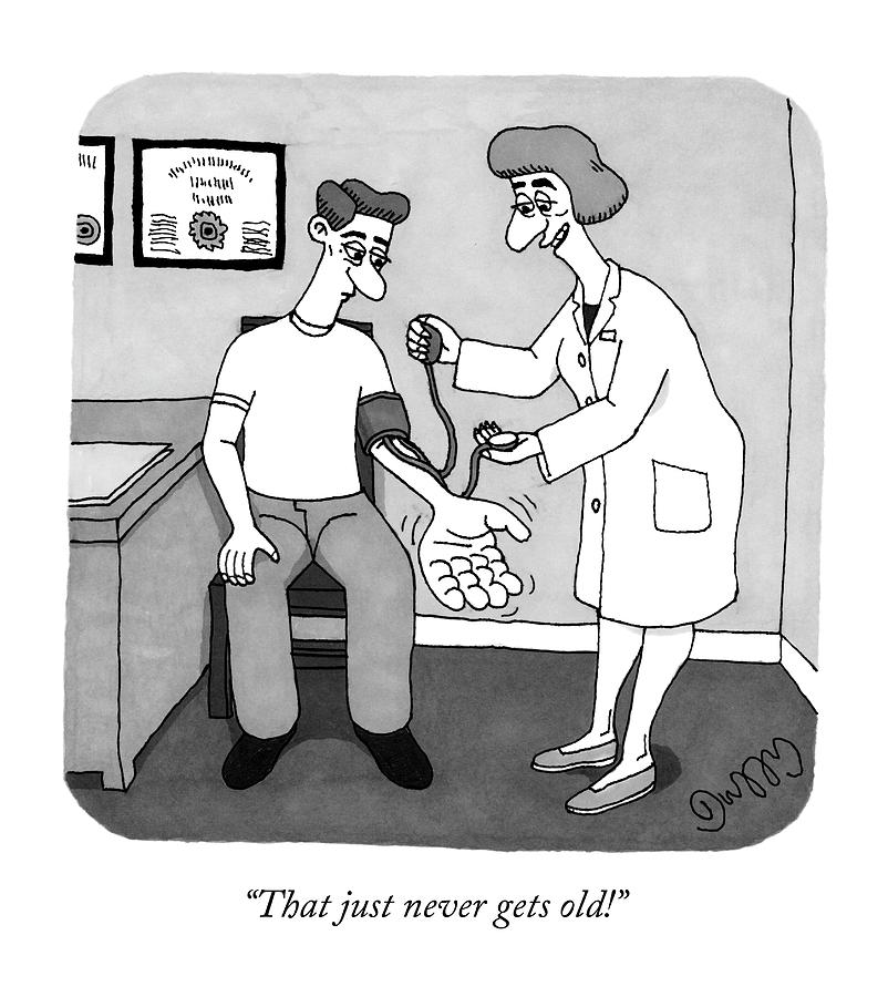 A Nurse Takes A Patient S Blood Pressure Drawing By J C Duffy