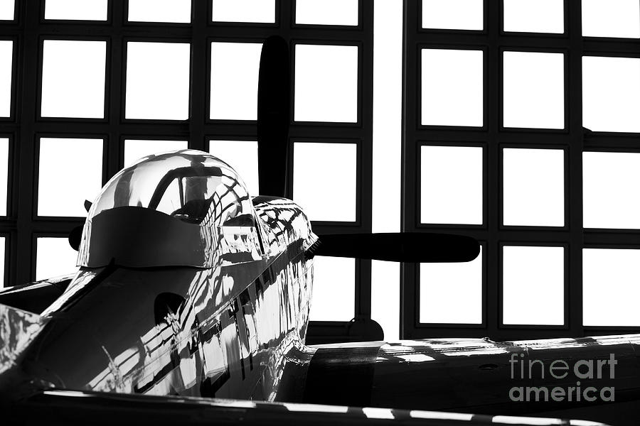 Germany Photograph - A P-51 Mustang Parked In An Aircraft by Timm Ziegenthaler