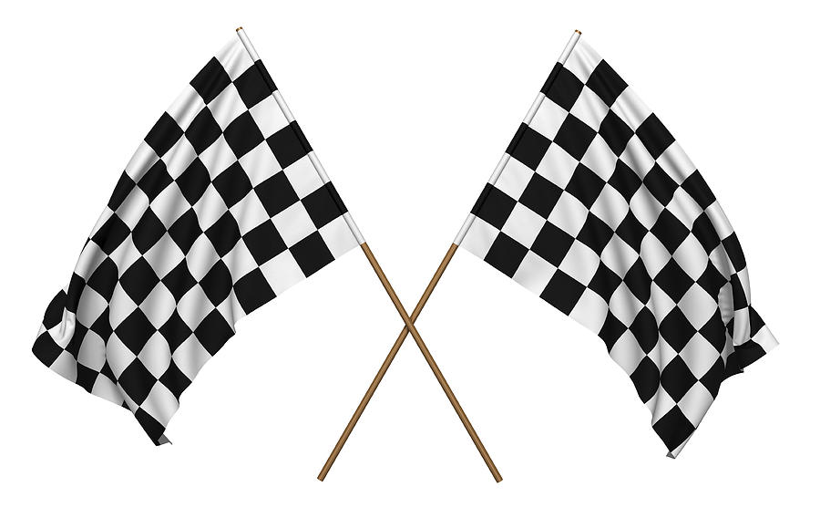 A Pair Of Checkered Flags That Could Be Used For Racing Photograph by 07_av