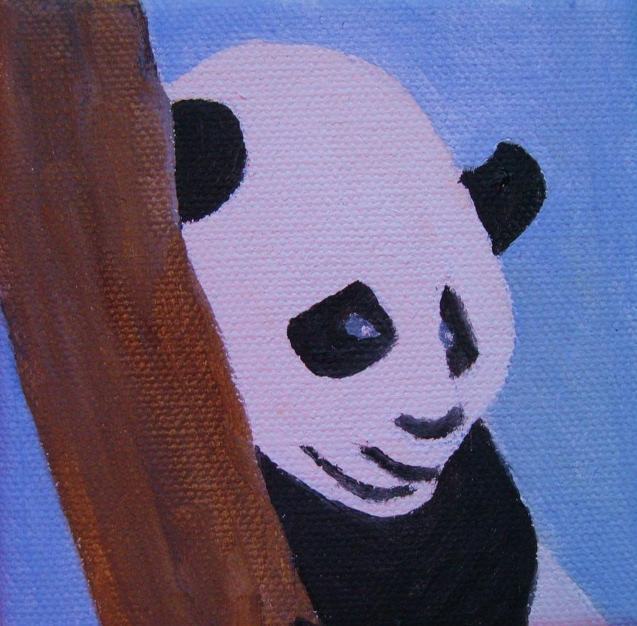 A Panda In The Tree Painting by Edna Fenske