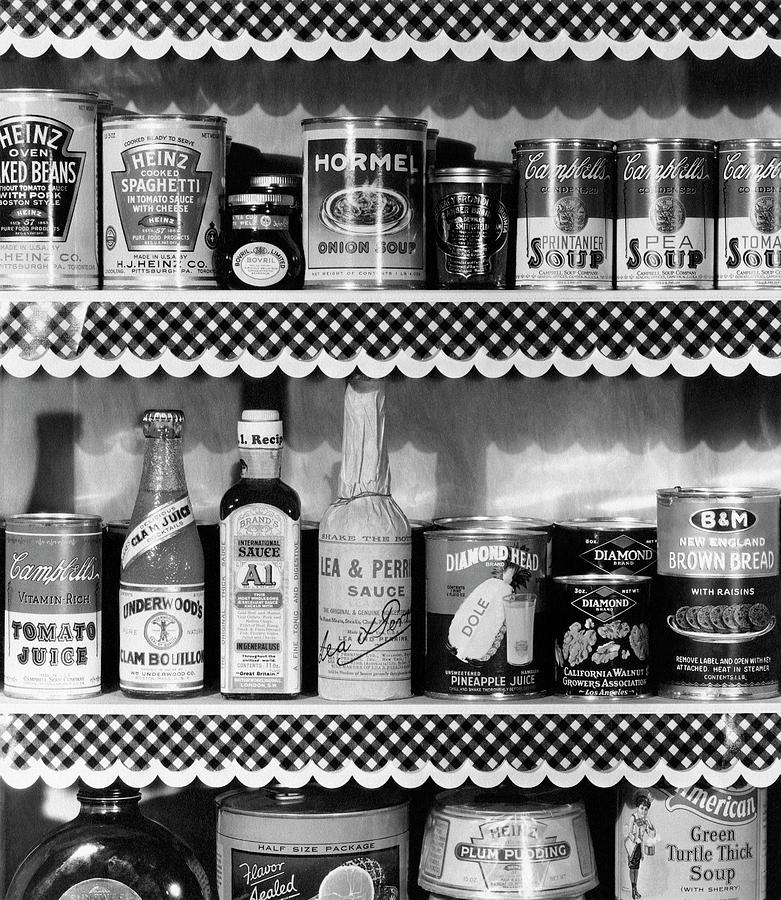 A Pantry Filled With Food Photograph by Peter Nyholm