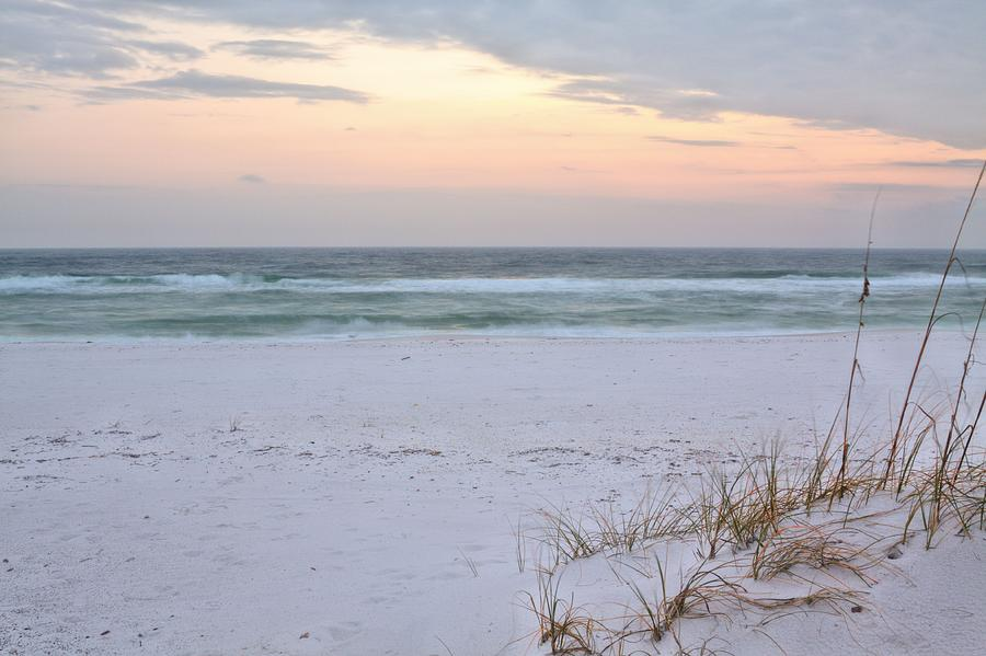 Beach Photograph - A Pastel Sunrise by JC Findley