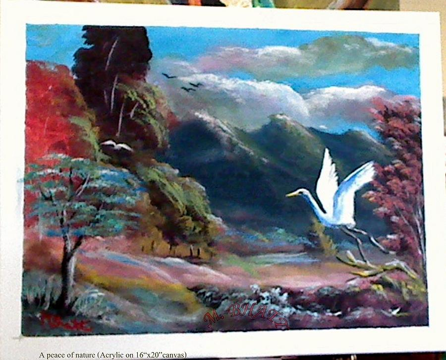 Nature Painting - A Peace Of Nature by M bhatt