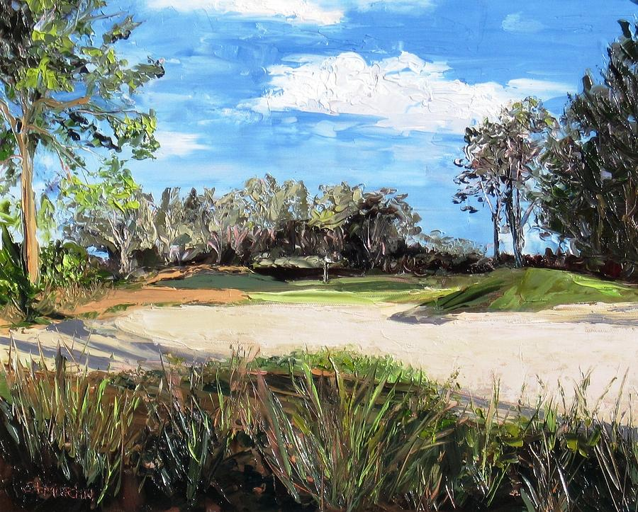 Golf Course Painting - A Peaceful Days Work by Annie St Martin