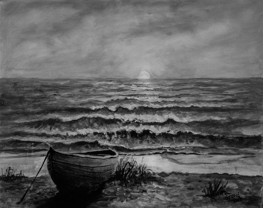 Ocean Painting - A Peaceful Evening  by C Steele