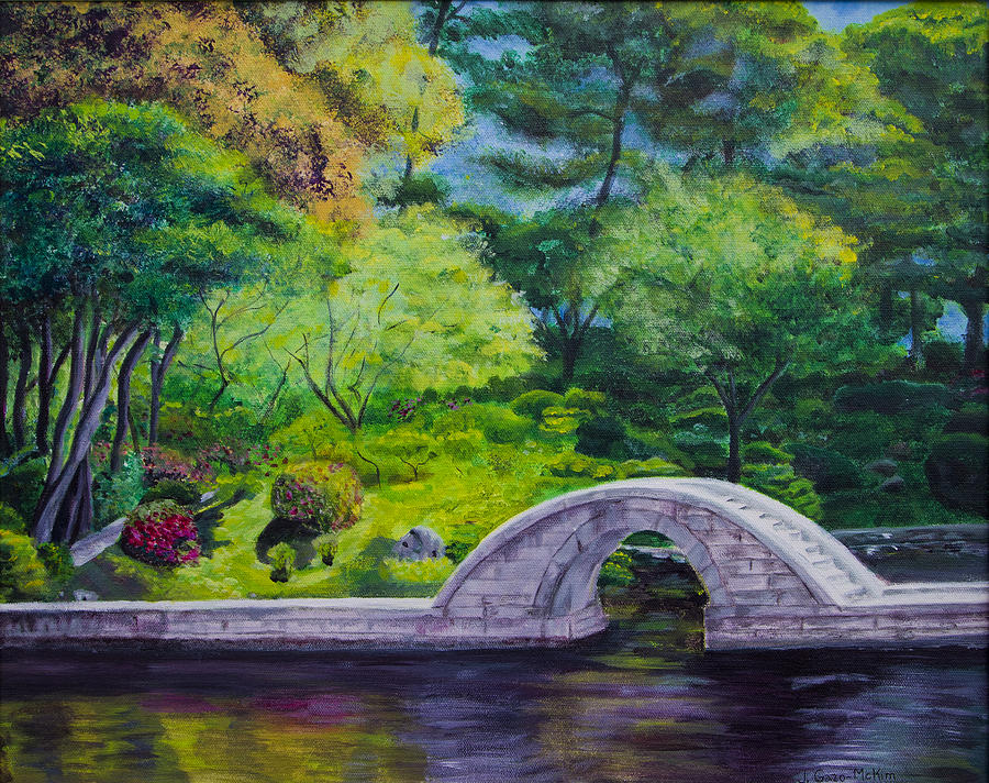 A Peaceful Place In Hiroshima Painting By Jo Anne Gazo Mckim