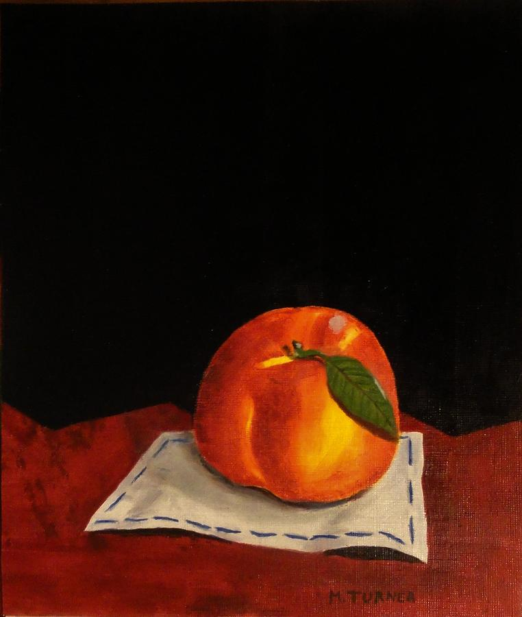 Peach Painting - A Peach by Melvin Turner