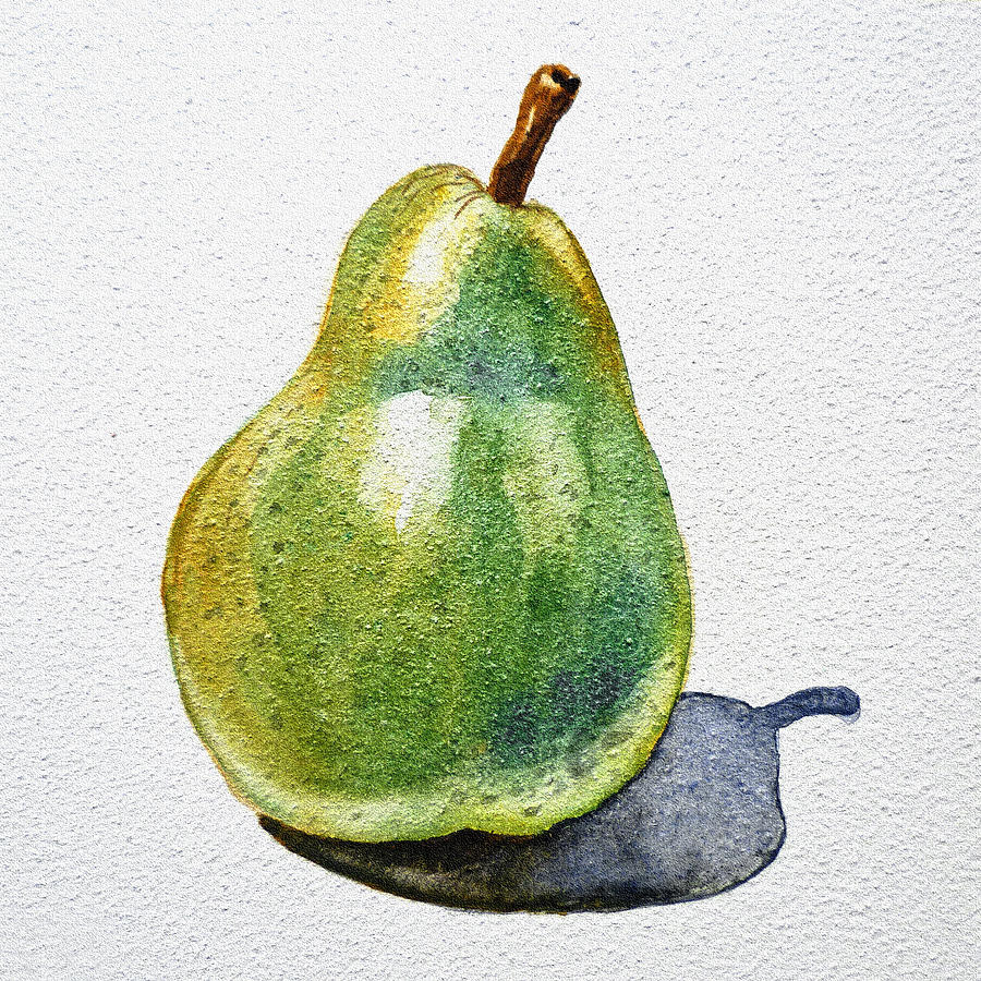 Agriculture Painting - A Pear by Irina Sztukowski