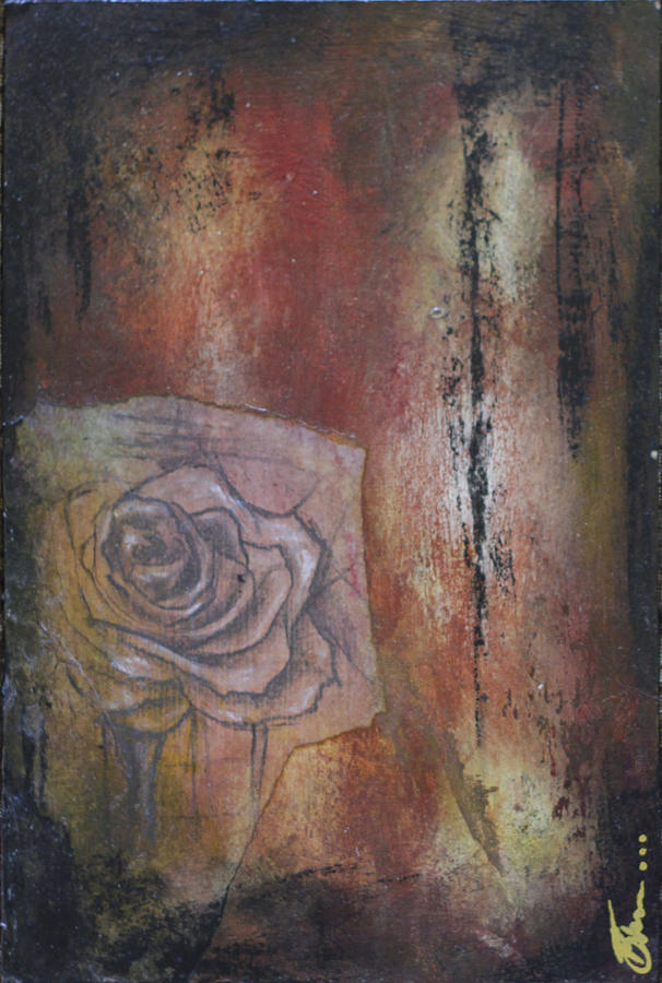 Floral Mixed Media - A Peek Of Beauty No. 1 by Bhreon Bynum