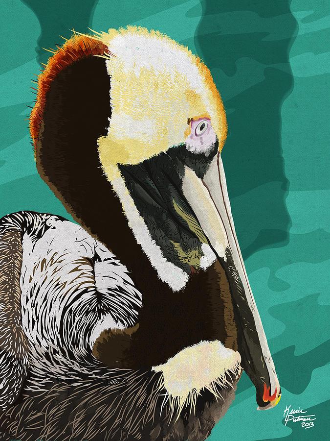Brown Pelican Digital Art - A Pelicans View by Kevin Putman
